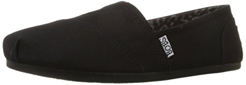 BOBS from Skechers Women's Plush Peace and Love Flat,Black,7 M US]()