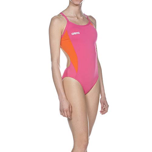 Arena W Directus Challenge Back One Piece Fresia_Rose,Mango, Taille 32