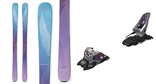 Blizzard Black Pearl 88 152cm Skis 2019 & Marker Squire 11 ID Grey/Purple 90mm Brake Ski Bindings