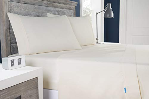 Columbia Moisture Wicking Temperature Regulating Sheet Set, 4-Piece (King, Ivory)