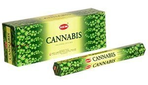 Cannabis - Box of Six 20 Gram Tubes - HEM Incense (Best E Cig For Cannabis Oil)
