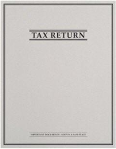 EGP Tax Return Folder with Pockets and Classic Border Design, Size 9 x 11.5, Quantity 50