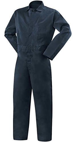 Steiner 1065-M Coverall, Weldlite Navy Blue 9-Ounce Flame Retardant Cotton, Medium