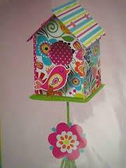 Spring Fling Pink Bird Hanging Birdhouse Decoration