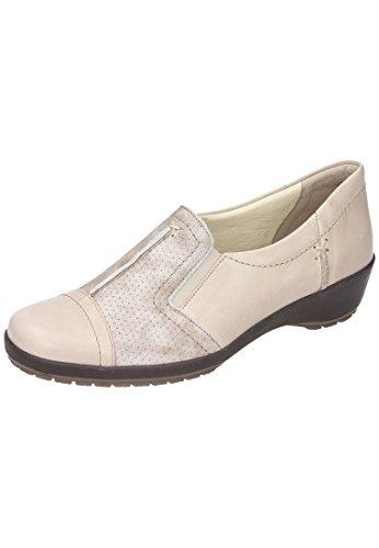 Comfortabel Comfortabel Damen Slipper - Mocasines de Piel para mujer beige beige Beige