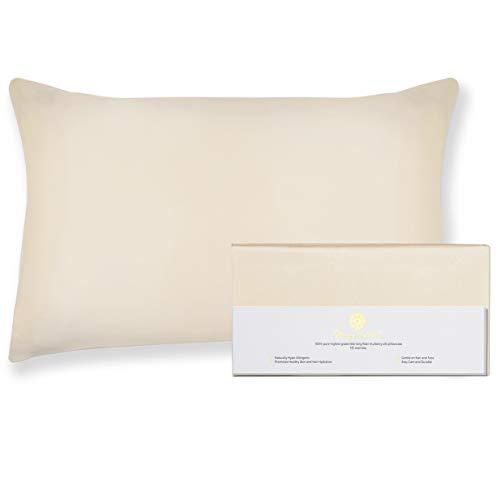 BEAUTY OF ORIENT - 100% Pure Mulberry Silk Pillowcase for Hair and Skin, 19 Momme Both Sides, Hidden Zipper, Natural Hypoallergenic Silk Pillow Case, Best Sleep (1pc Standard - 20