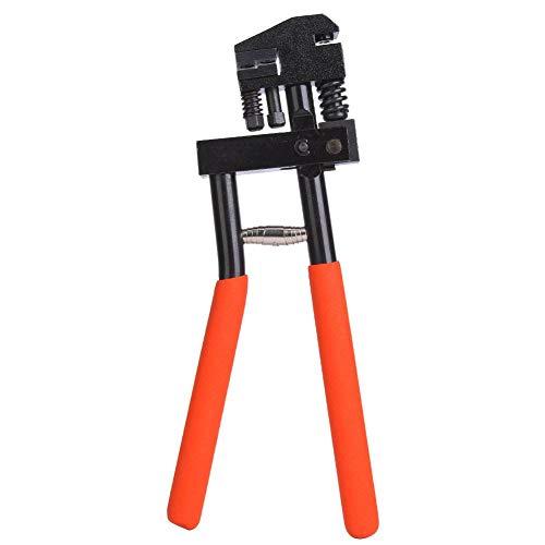 穴あけ工具、専門の炭素鋼の穴あけプライヤー滑り止めハンドル付きエッジセッターフランジングツール(レッド)