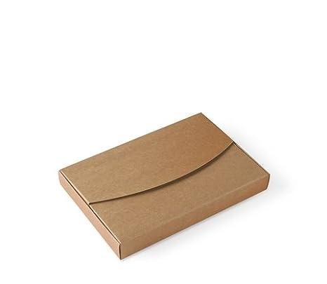 Selfpackaging Caja para Fotos en cartulina Kraft Bodas, bautizos. Pack de 50 Unidades - S: Amazon.es: Hogar
