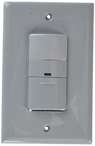 Sensor Occupancy Wall Mount (EATON OS306U-GY 600W Wall Mount Occupancy Vacancy Sensor, Gray)