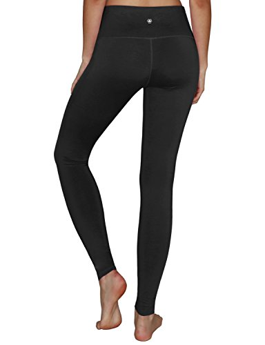 Yoga Reflex Women's Tummy Control Sports Running Yoga Workout Leggings Pants Hidden Pocket (XS-3XL) , Black , Large