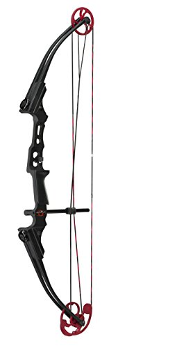 Genesis Compound Bow - Genesis 11417 Mini Bow, Right Handed, Black with Red Camo