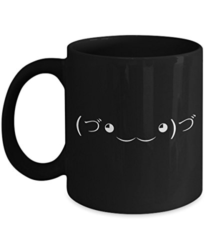 The Cute Assassin Meme (づ。◕‿‿◕。)づ - Funny and Sarcastic Text Face Emoji Gift - Unique Black Coffee Mug - AIE Inspirations
