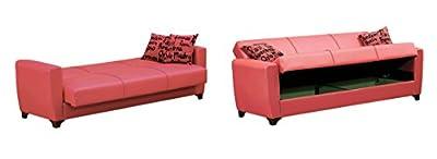 Empire Furniture USA SB-DALLAS-2015 Dallas 2016 Collection Convertible Sofa Bed with Storage Space Includes 2 Pillows