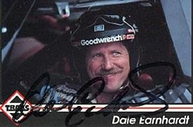 Dale Earnhardt Autographed 1992 Traks No.103 Racing Card - Autographed NASCAR Cards