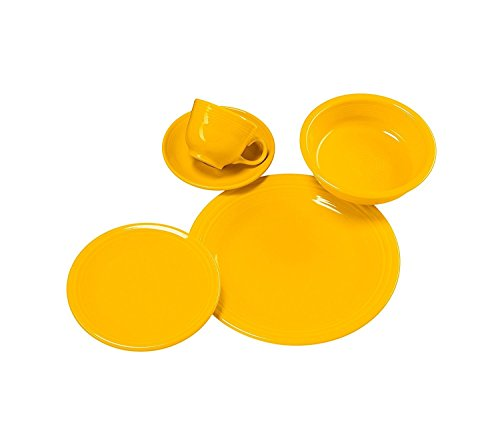 Cheap Homer Laughlin 830-342 5 Piece Place Dinnerware Set, Daffodil