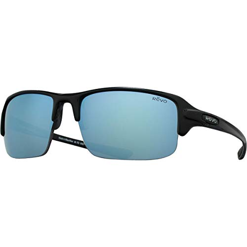 Revo Re 4041x Abyss Polarized Sport Sunglasses Wrap, Black, 66 mm