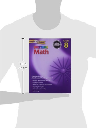 Amazon.com: Spectrum Math: Grade 8 Workbook (0087577913988 ...
