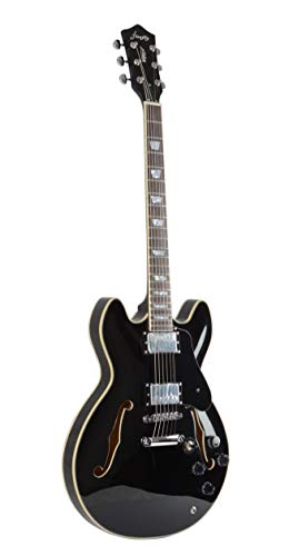 Firefly FF338 Semi-Hollow Body Guitar(Gloss black)