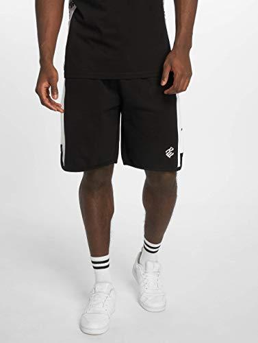 Rocawear Logo Double Shorts Uomo Nero 8q81p6x