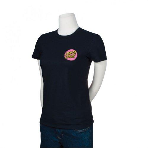(Santa Cruz Girls Other Dot Fitted Short-Sleeve Shirt Large Black)