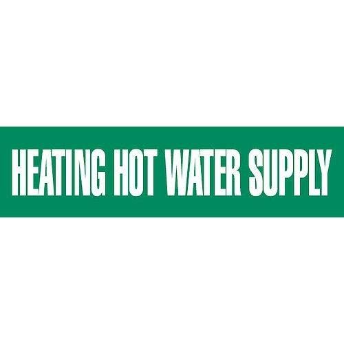 GHS Safety PM1149VC,''Heating Hot Water Supply'' Vinyl Pipe Marker, Pack of 150 pcs