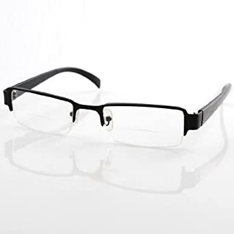 stylish eyeglasses zzlf  THG Stylish Gent Mens Black Semi Frame Bifocal Presbyopic Reading Glasses  Spectacles Eyeglasses +250 Magnifier Clear Vision Outdoor Health Care:
