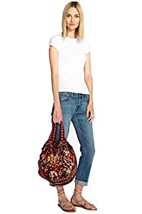 Johnny Was Marjan Velvet Tote - J02718-7 (Rust)