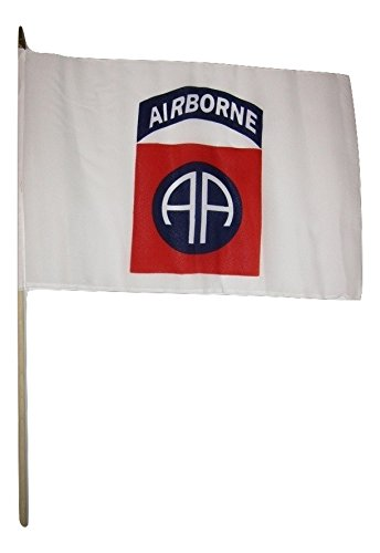 AES 12×18 12″x18″ Wholesale Lot of 12 82nd Airborne White Stick Flag Wood Staff Review