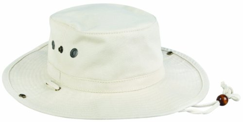 Outdoor Cap Boonie Canvas with Brim Snaps, Natural, Large/X-Large