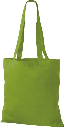 5x Stoffbeutel Baumwolltasche Beutel Shopper Umhängetasche viele Farbe lime green EZezt