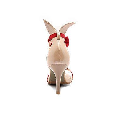 LvYuan Mujer-Tacón Stiletto-Zapatos del club-Sandalias-Vestido Informal Fiesta y Noche-Semicuero-Negro Rojo Blanco Black