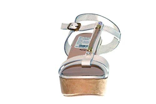 RIPA Sandale mit Keilabsatz aus Kork Bianco