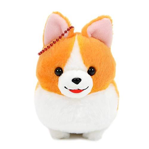Amuse Corgi Plush Doll Ichi Ni no Dog Corgi Stuffed Animal Ichi White Ball Chain Size Plushie 4 Inches