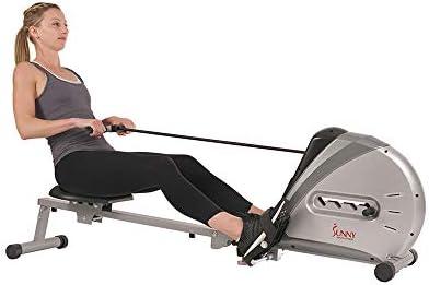 Sunny Health & sf-rw5606Cuerda elástica máquina de Remo de Fitness 3