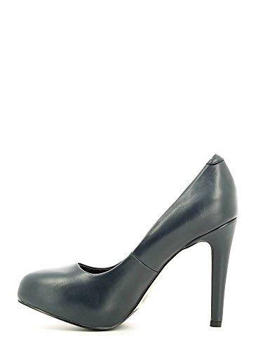 MF901 en chaussures talons I16 plateaux CAF dcollet intérieur hauts 228 femme Les cuir noires NOIR Blu agtqw5z