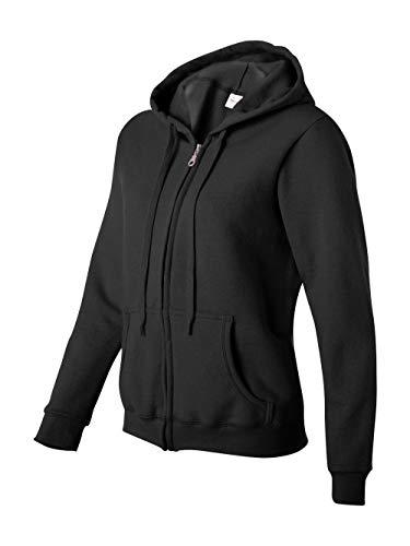 Gildan Women's Heavy Blend Full-Zip Hooded Sweatshirt, Black, Large ()
