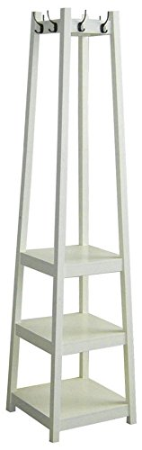3 Tier Tower Shoe / Coat Rack Finish: White by ORE