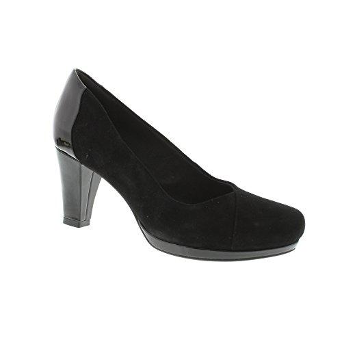 Clarks Chorus Carol, Zapatos de Tacón para Mujer Negro (Black Combi)