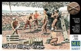 Master Box WWII US Artillery Crew (6) Figure Model Building Kits (1:35 Scale)