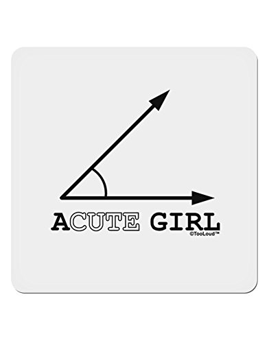 TooLoud Acute Girl 4x4 Square Sticker - 1 (Acute Girl)