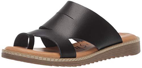 Blowfish Women's Okra Sandal, Black Dyecut, 6.5 Medium US