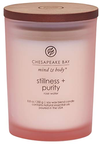 Chesapeake Bay Candle Scented Candle, Stillness + Purity (Rose Water), Medium (Yankee Candle Vs Bath And Body Works)