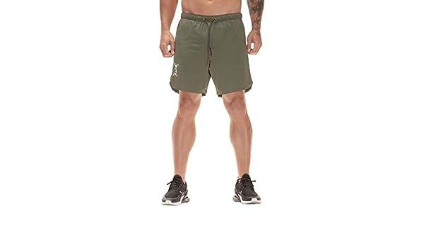 YEBIRAL Pantalones Cortos Hombre, Verano Casual con cordón con ...