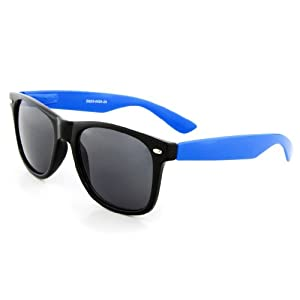 MJ Boutique's Black & Blue Sunglasses Dark Lens