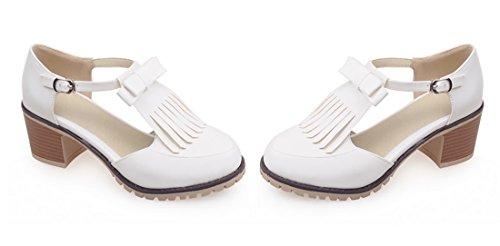 cinturino alla UH Scarpe con Bianco Donna caviglia wOEOaxq