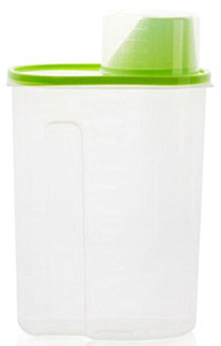 Seal Buckle (Faithtur Pet Food Storage Container with Graduated Cup and Seal Buckles Food Dispenser for Dogs Cats (2.5L, Green))