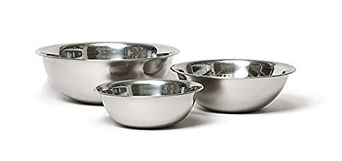 (Vollrath Economy Mixing Bowl Set (1-1/2, 3 & 5-Quart, Stainless Steel))