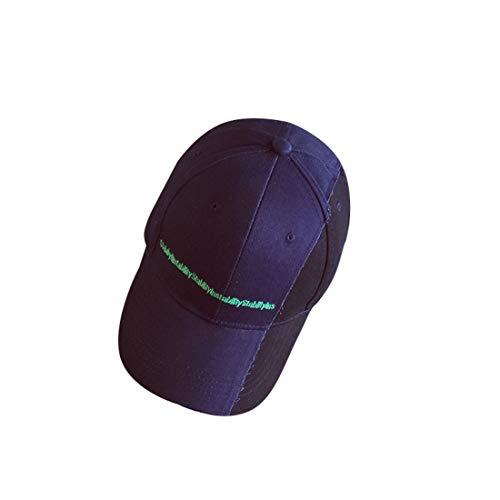 Sinngukaba Washed Baseball Cap, Tapa Colorblock Carta,Adjustable Size Hat (Color : Blue)