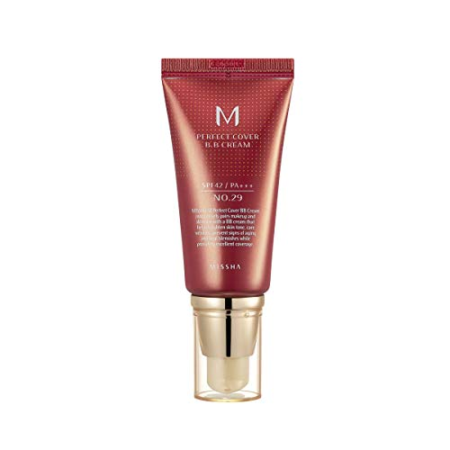 MISSHA M PERFECT COVER BB CREAM #29 SPF 42 PA+++ 50ml-Lightweight, Multi-Function, High Coverage Makeup to help infuse moisture for firmer-looking skin with reduction in appearance of fine lines