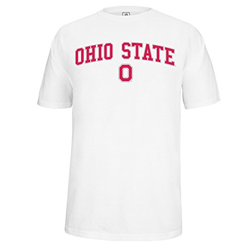 J America Adult Ohio State Arched Block O Tee Ohio St, XX, White -